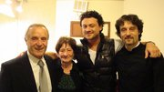 With Vittorio Grigolo and my parents